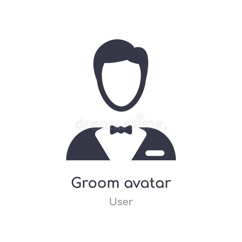 icona dell'avatar dello sposo illustrazione isolata di vettore dell'icona dell'avatar dello sposo dalla raccolta dell'utente edit illustrazione di stock
