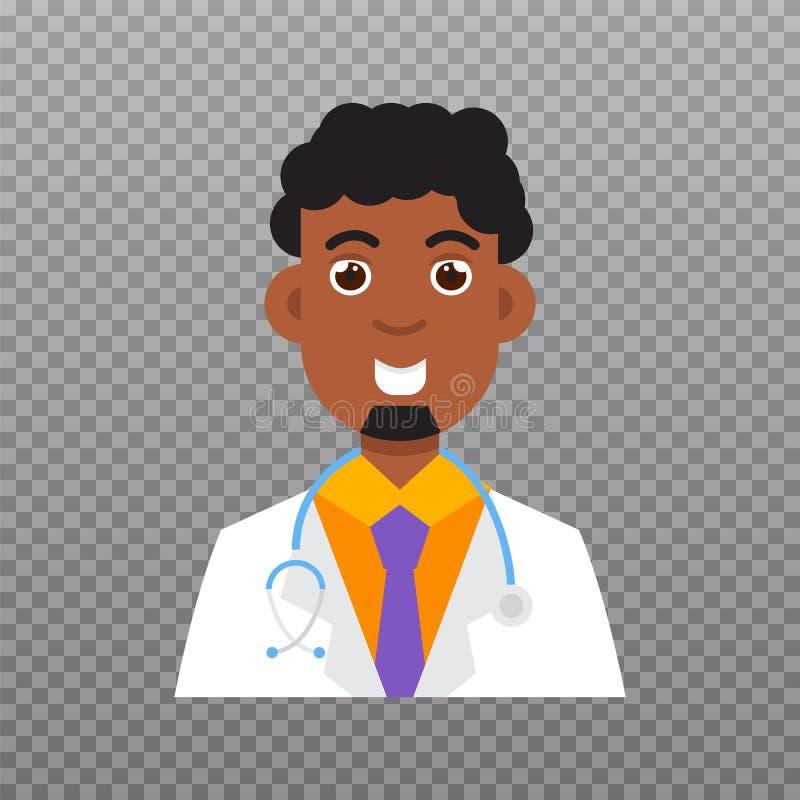 Icona dell'avatar di medico, icona del personale medico Illustrazione di vettore royalty illustrazione gratis