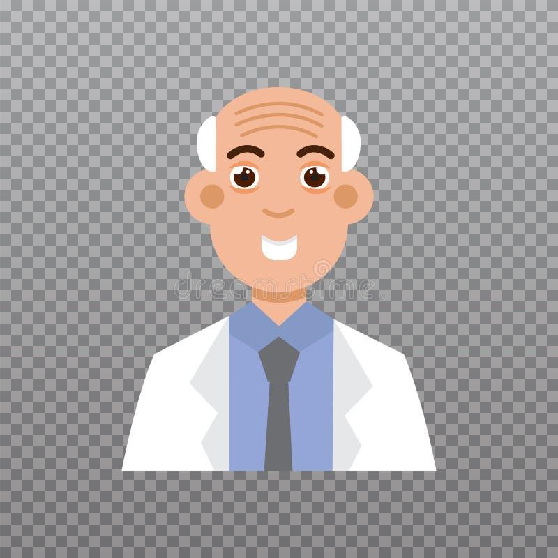 Icona dell'avatar di medico, icona del personale medico Illustrazione di vettore illustrazione di stock