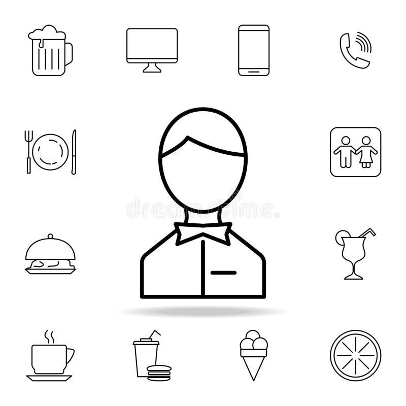 """icona dell'avatar di s """"\ del cameriere Elemento dell'icona semplice per i siti Web, web design, cellulare app, grafici di inform illustrazione di stock"""