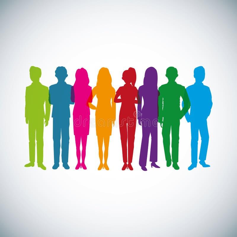 Icona dell'avatar dell'uomo e della donna Progettazione delle persone di affari Grafico di vettore illustrazione di stock