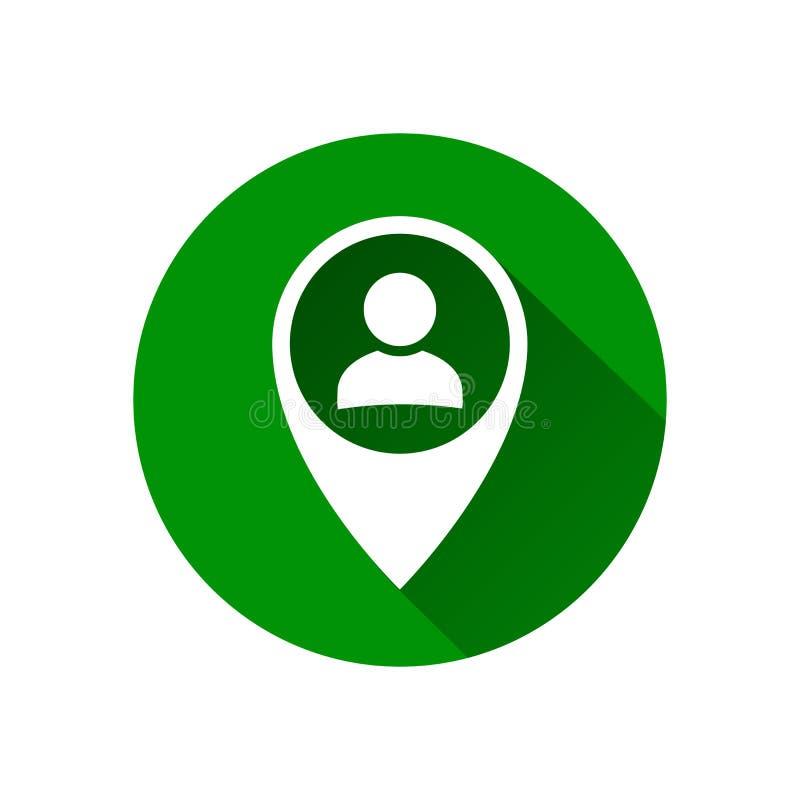 Icona dell'avatar dell'utente, segno, simbolo di profilo, icona piana della persona nell'icona del puntatore dell'indicatore dell royalty illustrazione gratis