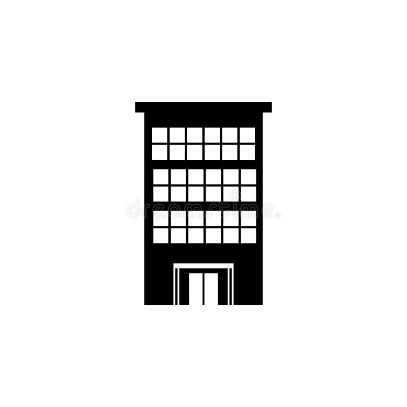 Icona dell'edificio per uffici illustrazione vettoriale