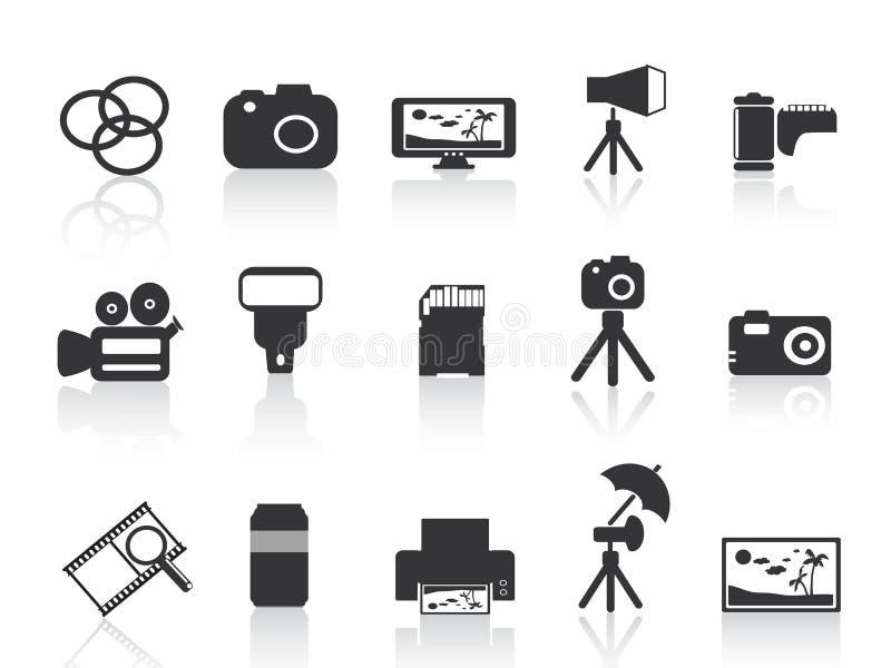 Icona dell'elemento di fotographia illustrazione di stock