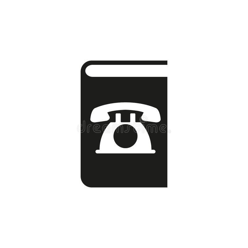 Icona dell'elenco telefonico Disegno di vettore Simbolo del libro di telefono web grafico jpg ai app marchio oggetto piano immagi illustrazione vettoriale