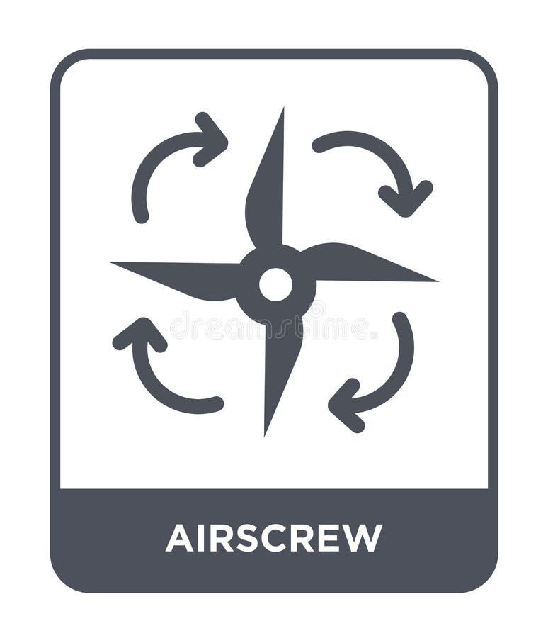 icona dell'elica nello stile d'avanguardia di progettazione icona dell'elica isolata su fondo bianco piano semplice e moderno del illustrazione di stock