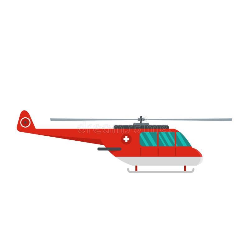 Icona dell'elicottero, stile piano illustrazione di stock