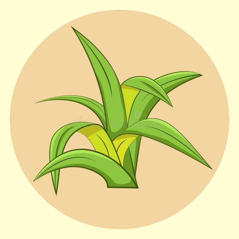 Icona dell'erba fotografia stock