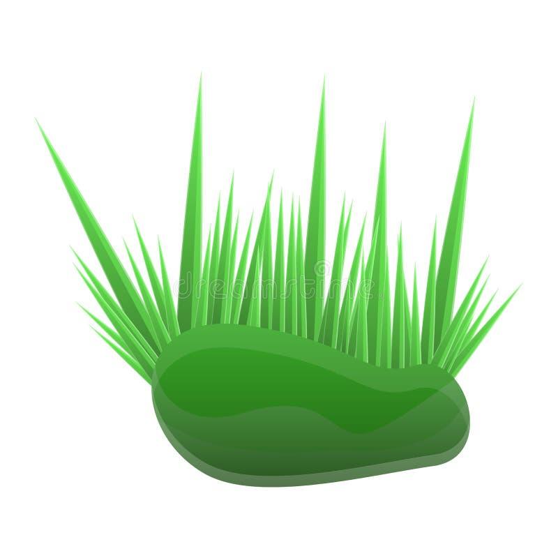 Icona dell'erba dell'acquario, stile del fumetto illustrazione di stock