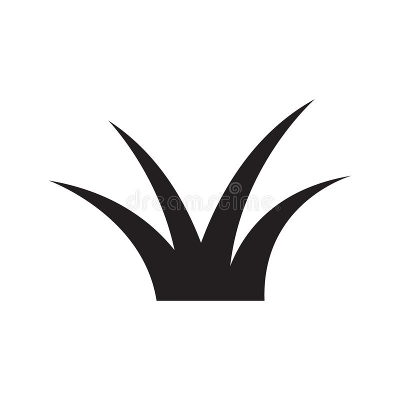 Icona dell'erba, icona di vettore della pianta illustrazione vettoriale