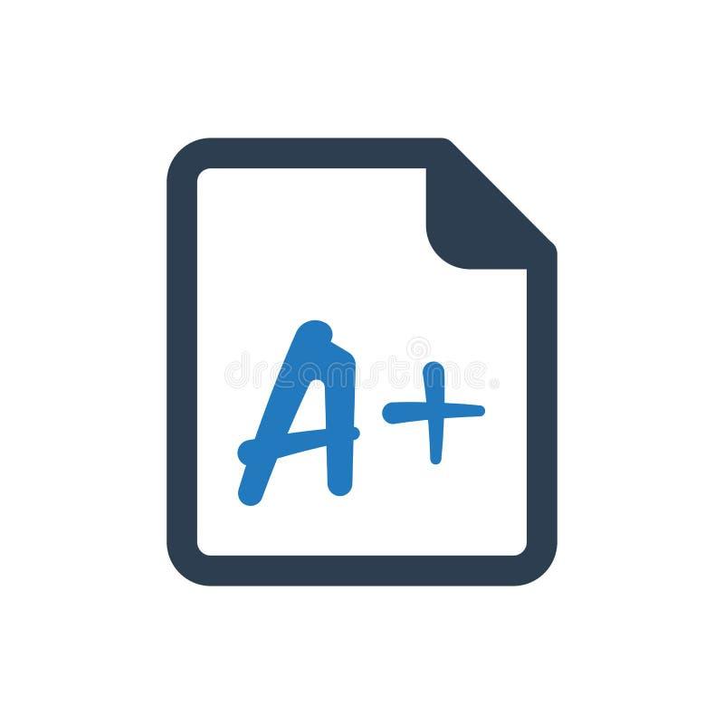 Icona dell'esame della scuola illustrazione di stock
