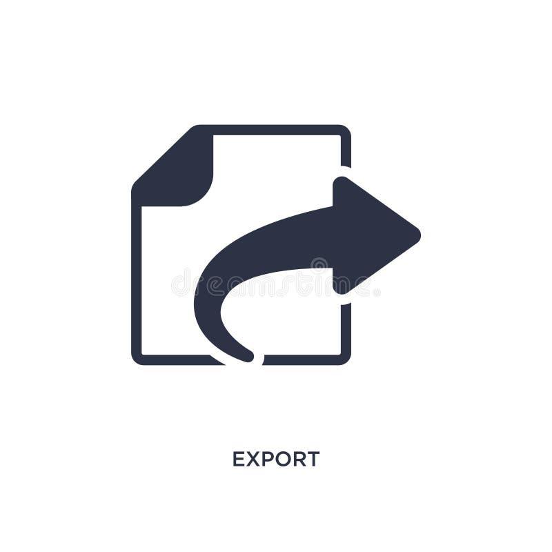 icona dell'esportazione su fondo bianco Illustrazione semplice dell'elemento dal concetto dell'interfaccia utente royalty illustrazione gratis