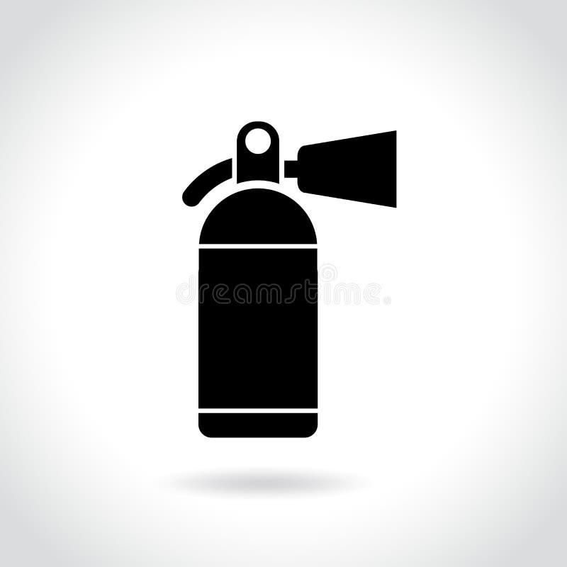 Icona dell'estintore su fondo bianco royalty illustrazione gratis