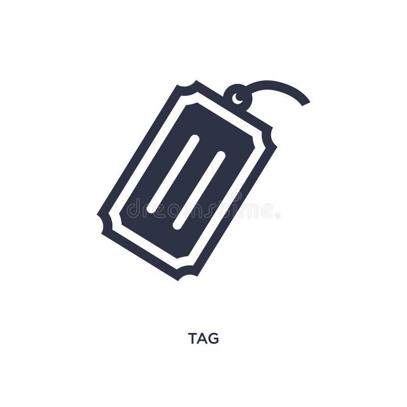 Icona dell'etichetta su fondo bianco Illustrazione semplice dell'elemento dalla consegna e dal concetto logistico royalty illustrazione gratis