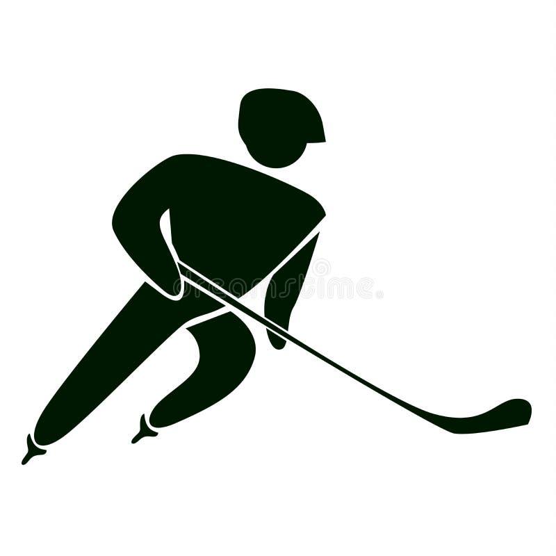 Icona dell'hockey illustrazione vettoriale