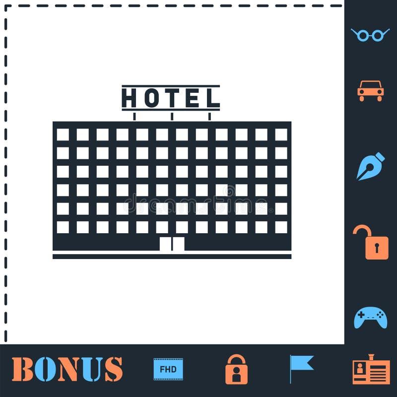 Icona dell'hotel piana royalty illustrazione gratis