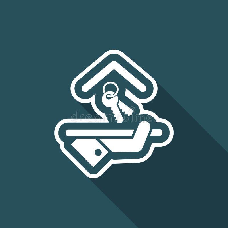 Icona dell'hotel Tasti illustrazione vettoriale