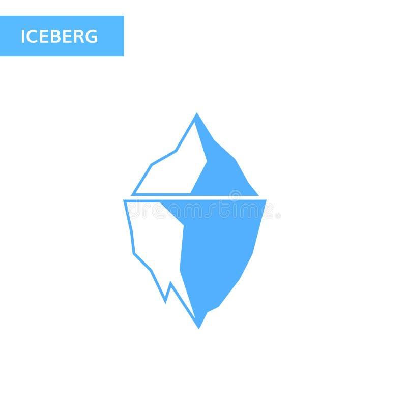 Icona dell'iceberg di ghiaccio Logo dell'iceberg illustrazione vettoriale