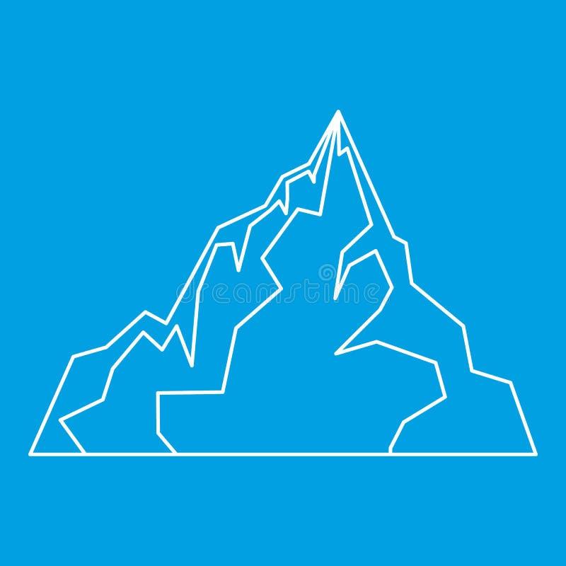Icona dell'iceberg, stile del profilo royalty illustrazione gratis