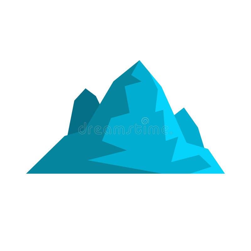 Icona dell'iceberg, stile piano illustrazione vettoriale