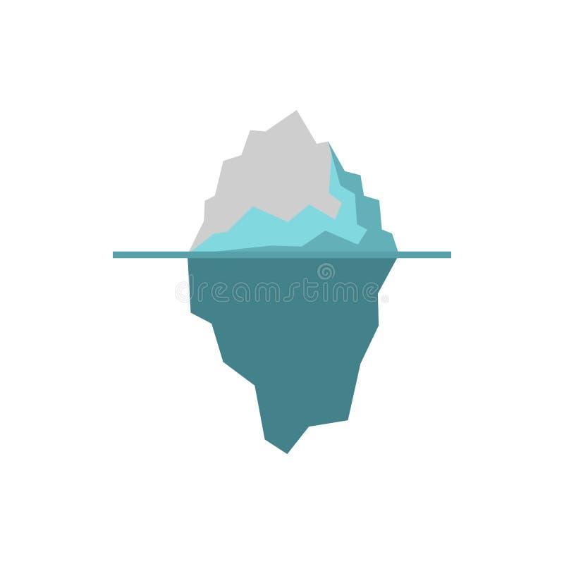 Icona dell'iceberg, stile piano illustrazione di stock