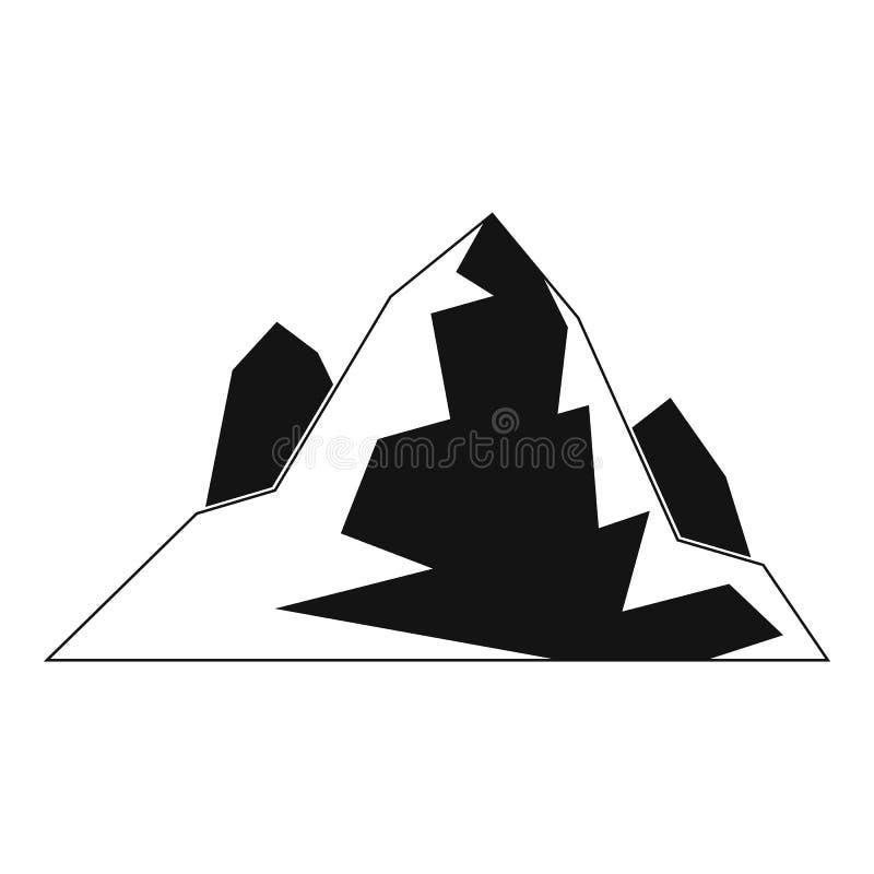 Icona dell'iceberg, stile semplice illustrazione vettoriale