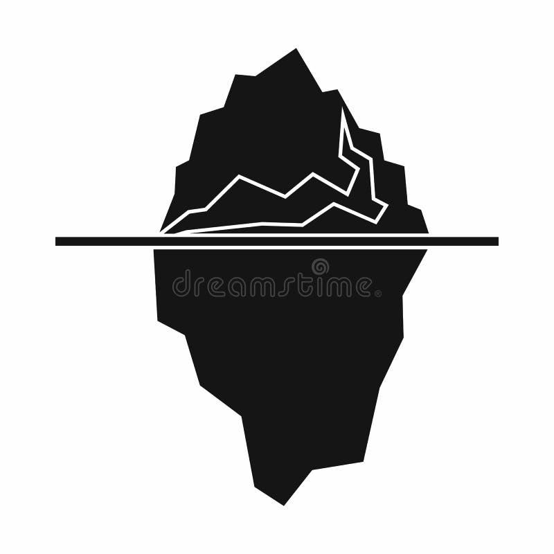Icona dell'iceberg, stile semplice royalty illustrazione gratis