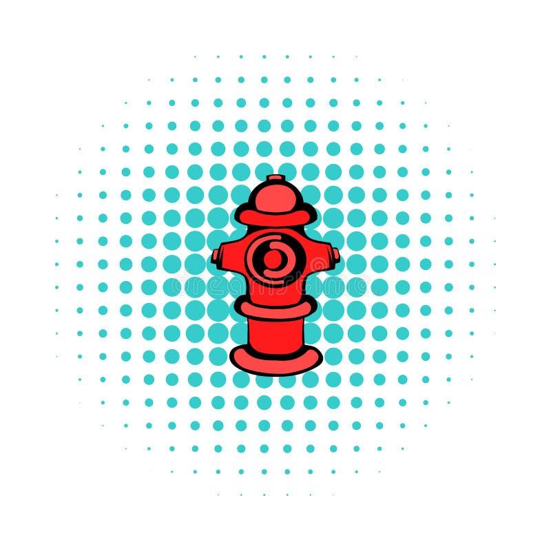 Icona dell'idrante antincendio, stile dei fumetti illustrazione di stock