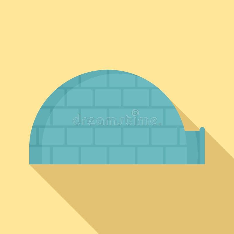 Icona dell'iglù dell'Alaska, stile piano royalty illustrazione gratis