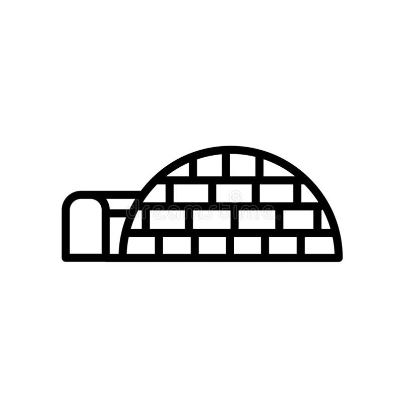 Icona dell'iglù isolata su fondo bianco illustrazione di stock