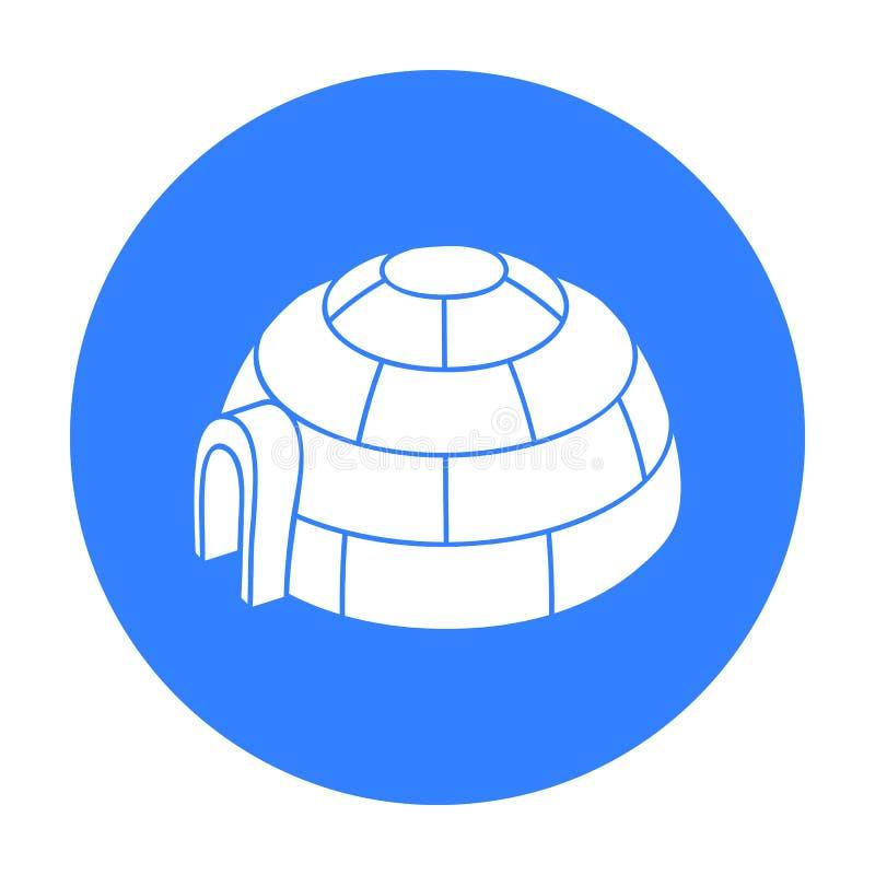 Icona dell'iglù isolata su fondo bianco Illustrazione di vettore delle azione di simbolo della stazione sciistica illustrazione vettoriale