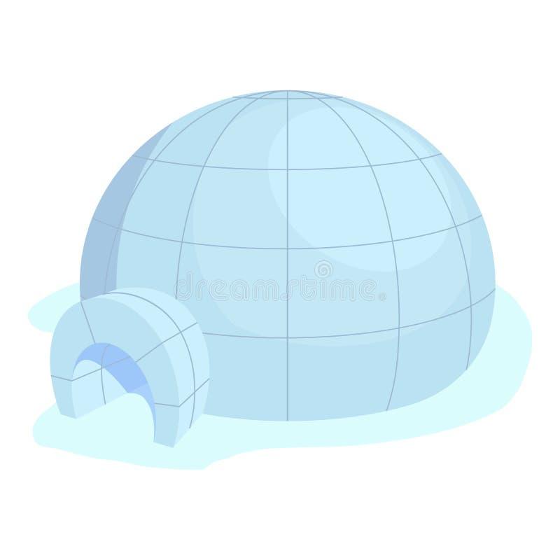 Icona dell'iglù, stile del fumetto royalty illustrazione gratis