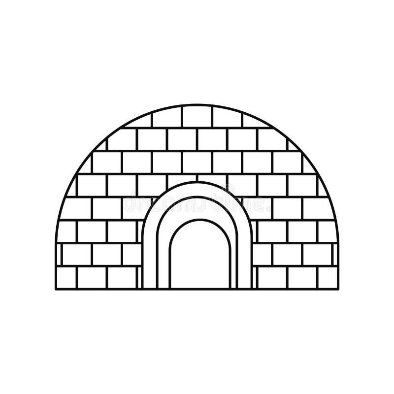 Icona dell'iglù, stile del profilo illustrazione vettoriale