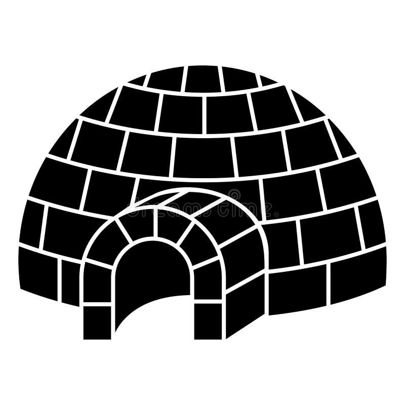 Icona dell'iglù, stile semplice illustrazione di stock