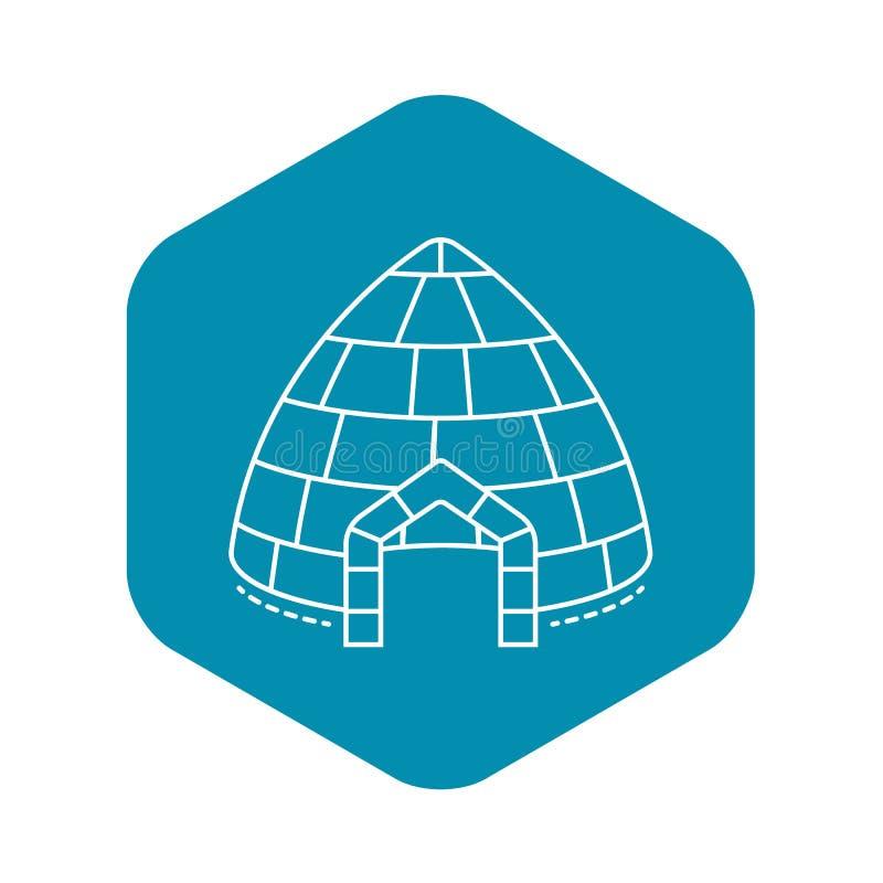 Icona dell'igl? del ghiaccio, stile del profilo royalty illustrazione gratis