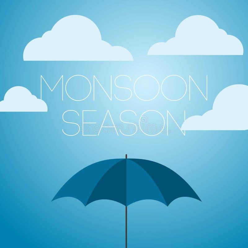 Icona dell'illustrazione di April Showers Vector Template Design di stagione dei monsoni royalty illustrazione gratis