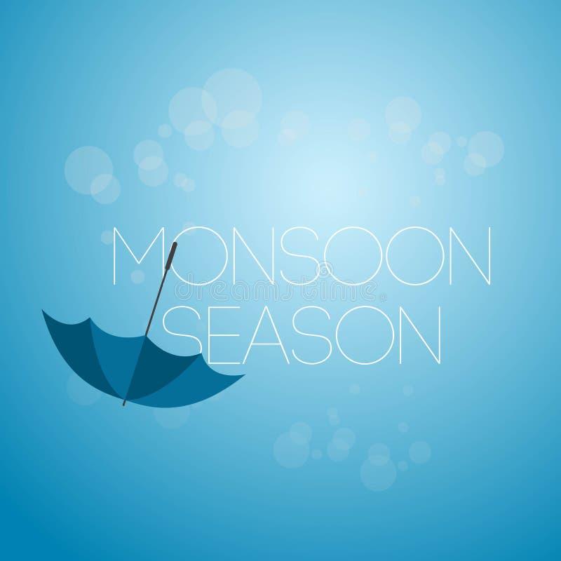 Icona dell'illustrazione di April Showers Vector Template Design di stagione dei monsoni illustrazione di stock
