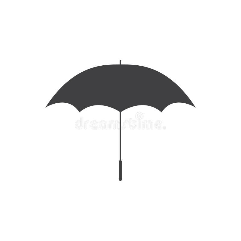 Icona dell'illustrazione di progettazione del modello di vettore dell'ombrello royalty illustrazione gratis