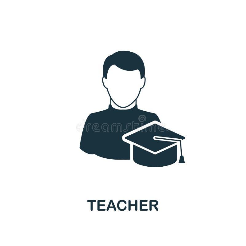 Icona dell'insegnante Progettazione monocromatica di stile dalla raccolta dell'icona di professioni Ui Icona semplice perfetta de illustrazione di stock