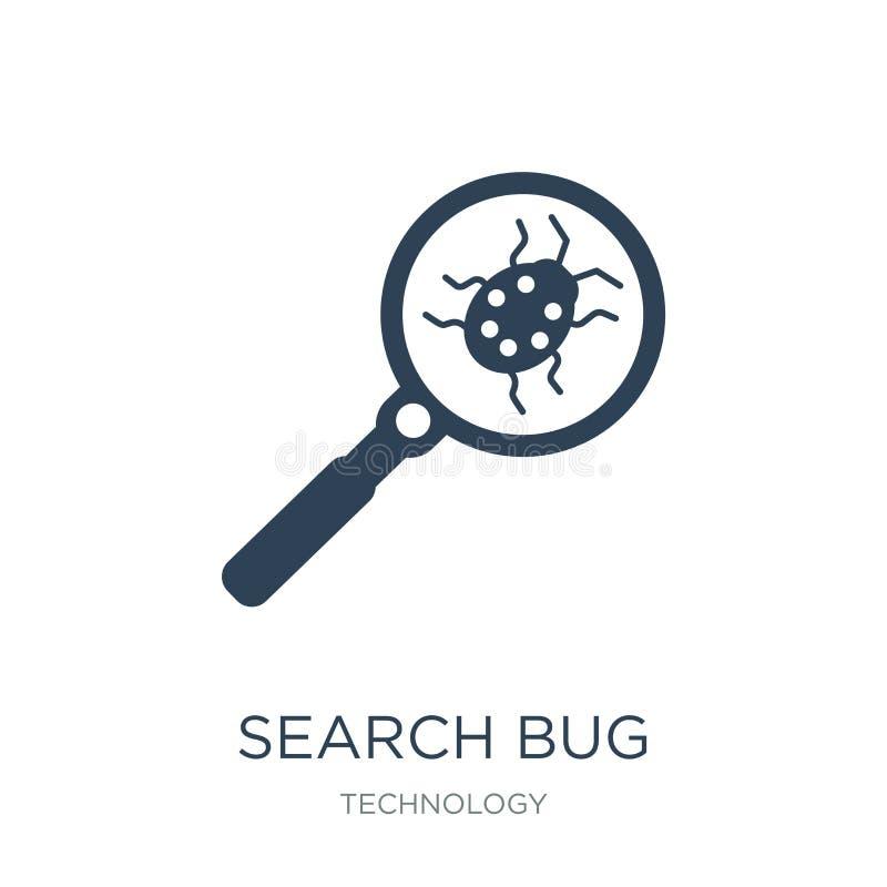 icona dell'insetto di ricerca nello stile d'avanguardia di progettazione icona dell'insetto di ricerca isolata su fondo bianco ic royalty illustrazione gratis