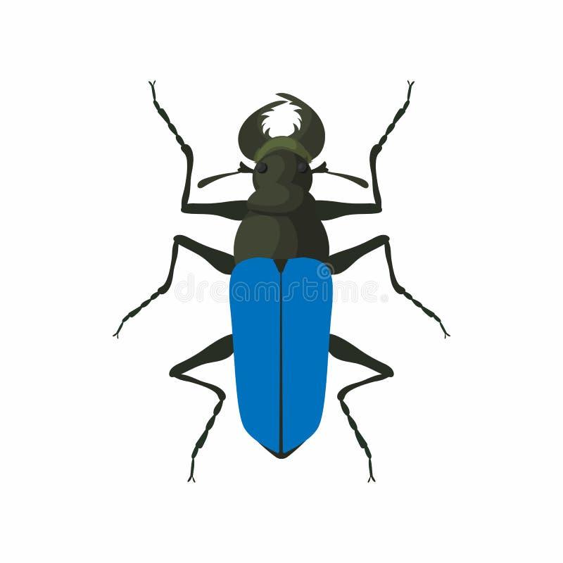 Icona dell'insetto, stile del fumetto illustrazione vettoriale