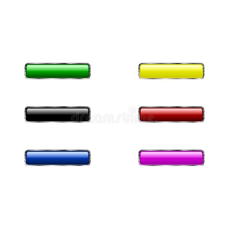 Icona dell'insieme del bottone isolata su fondo bianco illustrazione vettoriale