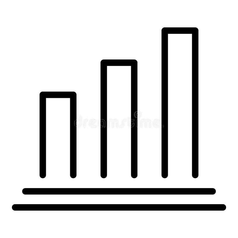 Icona dell'istogramma di ipoteca, stile del profilo illustrazione vettoriale
