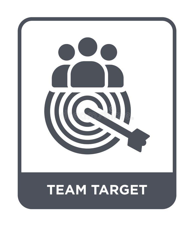 icona dell'obiettivo del gruppo nello stile d'avanguardia di progettazione icona dell'obiettivo del gruppo isolata su fondo bianc illustrazione di stock