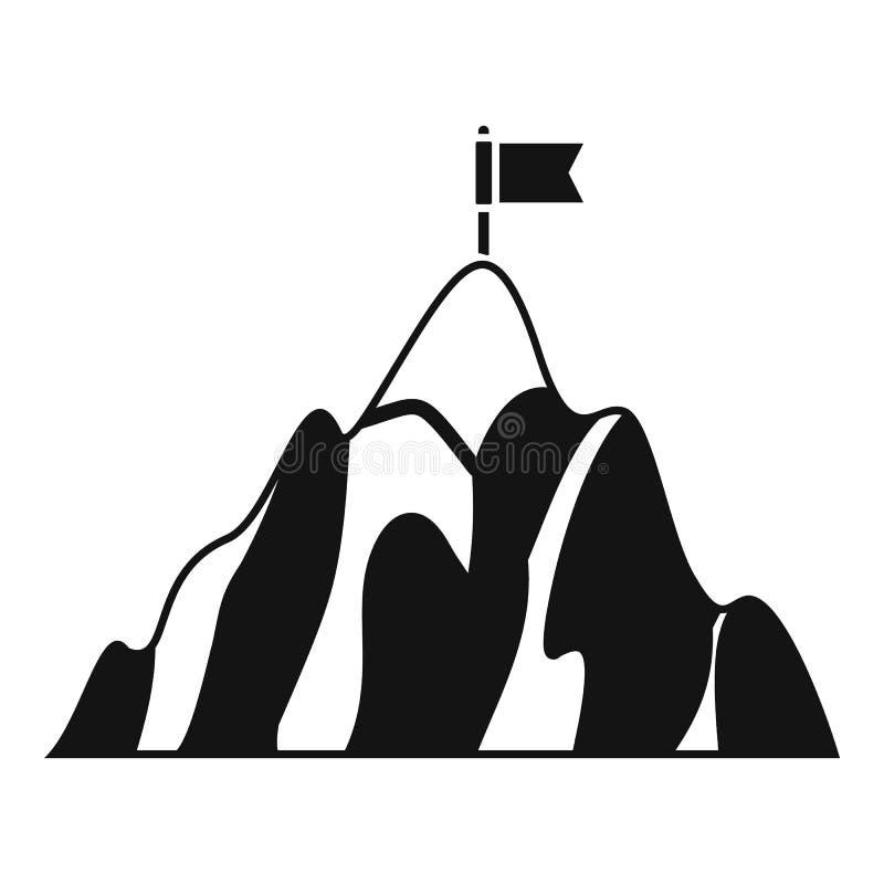Icona dell'obiettivo di affari della montagna, stile semplice illustrazione vettoriale