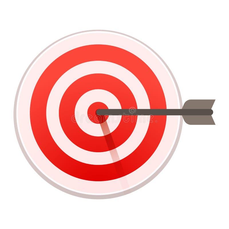 Icona dell'obiettivo dell'occhio di tori, stile del fumetto illustrazione di stock