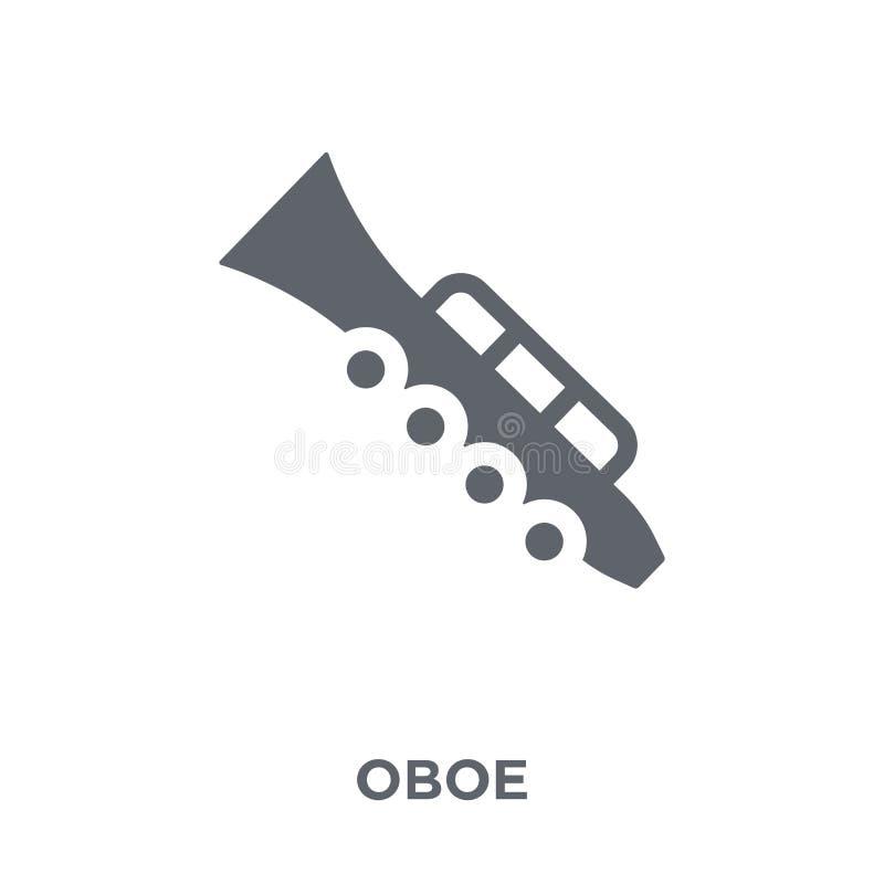 Icona dell'oboe dalla raccolta di musica illustrazione di stock
