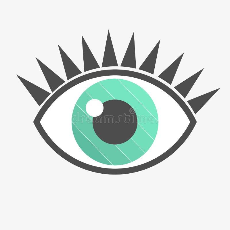 Icona dell'occhio azzurro illustrazione vettoriale