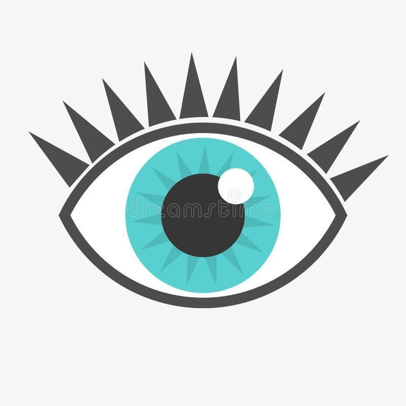 Icona dell'occhio azzurro royalty illustrazione gratis