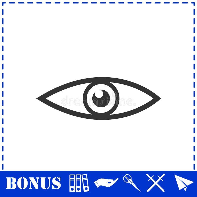 Icona dell'occhio piana illustrazione di stock